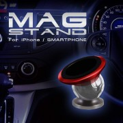 日本 MAG 汽車用磁石手機架電話座 --- 紅色