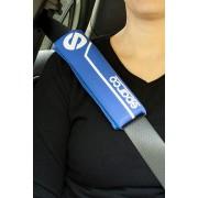 意大利 SPARCO 汽車用安全帶套 - 藍白色