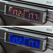 日本 KASHIMURA 12V 24V 汽車用車外車內溫度顯示器溫度計背光