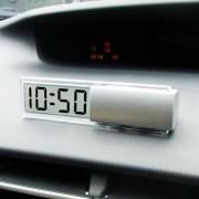 日本 KASHIMURA 汽車用簡約透明電子時鐘時間透光