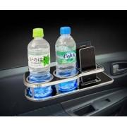 日本 KASHIMURA 汽車用LED雙杯架吧枱門邊窗邊飲品架煙盒
