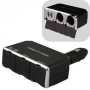 日本 KASHIMURA 汽車用一拖二點煙器一拖二USB充電器分插直插