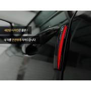 韓國製 汽車用門邊防撞貼反光貼防撞條 ( 4塊裝 ) 白色 / 黑色可選
