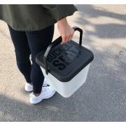 韓國製造 13L 洗車用可踏水桶隔砂網架多功能收納箱