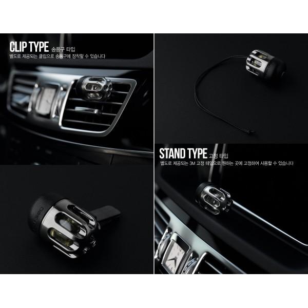 韓國製 汽車用出風口香水香薰掛飾金屬皮質吊墜