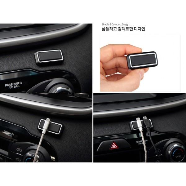韓國製 汽車用手機充電線磁石固定座理線器