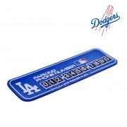 韓國製 汽車用如有阻塞棒球隊LA電話號碼牌