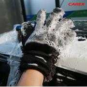 韓國 CAREX 汽車用洗車用猩猩形蟲蟲雙面去污手套