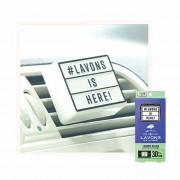 日本製 LAVONS 汽車用創意 POP-UP 冷氣出風消臭香水香薰香片 ( Luxury Relax香味 )