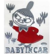 日本 MOOMIN MOOMINTROLL 姆明 LITTLE MY 阿美 汽車用銀色 BABY IN CAR 車上有嬰兒 貼紙