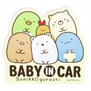 日本 SUMIKKO GURASHI 角落生物 BABY IN CAR 磁石貼車貼紙