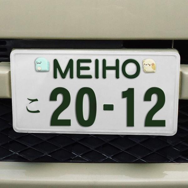 日本 MEIHO 汽車用角落生物立體裝飾貼車牌鏍絲套 ( 4個裝 )