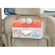日本 MEIHO 汽車用角落生物房屋造型紙巾盒