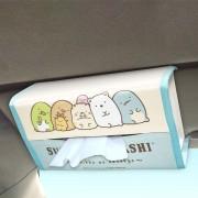 日本 SUMIKKO GURASHI 角落生物 汽車用太陽擋板專用紙巾盒紙巾袋
