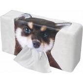 日本 MEIHO 汽車用黑白狗狗柴犬紙巾盒紙巾袋紙巾套