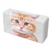 日本 MEIHO 汽車用啡黃貓貓紙巾盒