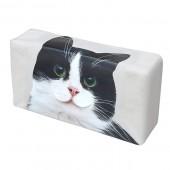 日本 MEIHO 汽車用黑白貓貓紙巾盒