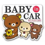 日本 MEIHO 汽車用 鬆弛熊BABY IN CAR 2WAY 磁石貼紙