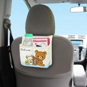 日本 MEIHO 汽車用鬆弛熊多功能後座椅背雜物袋收納袋