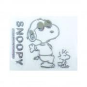日本 SNOOPY 汽車用SNOOPY 銀色裝飾貼