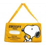 日本 SPOOPY 黃色橫放紙巾盒
