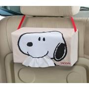 日本 SNOOPY 史露比 汽車用椅背紙巾袋紙巾收納