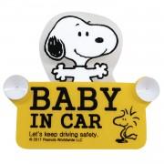 日本 汽車用 SNOOPY BABY IN CAR 車上有嬰兒