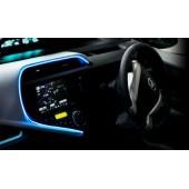 日本 MIRAREED 汽車用 12V 車內發光氣發光線表台邊藍光裝飾氣氛燈