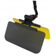 日本 MIRAREED 汽車用黑黃雙層太陽檔防強光防防高燈防陽光日夜兩用