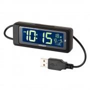 日本 NAPOLEX 汽車用USB時鐘電子鐘LED背光時間顯示
