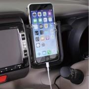 日本 NAPOLEX 汽車用簡約式手機架手機袋