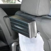 日本 NAPOLEX 汽車用多用途椅背太陽擋板扶手皮質紙巾袋紙巾盒