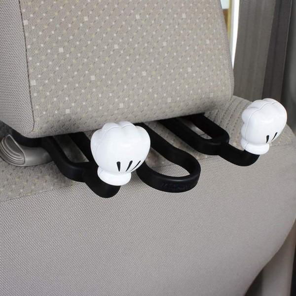 日本 NAPOLEX MICKEY 米奇老鼠 拳頭造型 汽車用頭枕椅背掛勾掛鈎掛鉤雨傘架