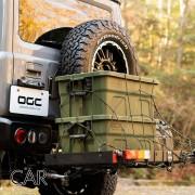 日本 OGC 汽車用 JIMNY 頂架用 4WD軍綠色大型膠質收納箱雜物箱