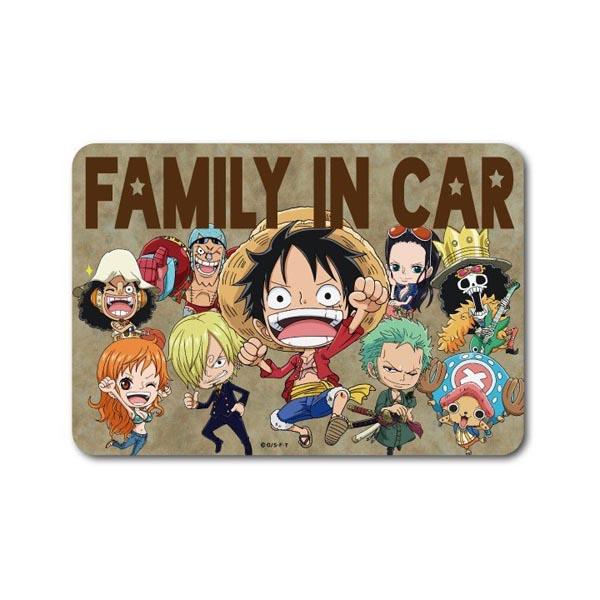 日本製 ONE PIECE 海賊王 FAMILY IN CAR 路飛 索隆 喬巴 山治 烏索普 羅賓 弗蘭奇 布魯克 娜美 汽車貼紙
