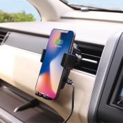 日本 PELLICID 汽車用冷氣出風口專用無線充電手機架電話座 QI