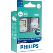PHILIPS T20 LED 汽車用 12V 白光燈倒車燈日行燈車尾燈 BREAK燈 剎車燈 ( 單絲 / 雙絲 )  ( 香港行貨 , 1年保養 )