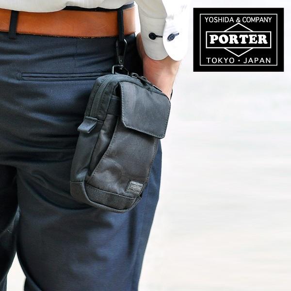 日本製 PORTER 多功能腰包銀包匙包手機袋電話包