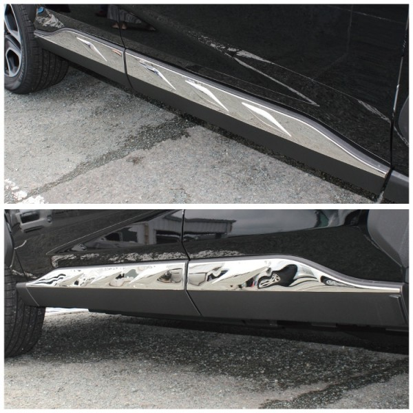 日本 豐田 TOYOTA RAV4 50系 汽車用車門底防撞不鏽鋼電鍍裝飾件 ( 4門裝 )
