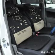 日本 SANRIO HELLO KITTY 汽車用座椅套坐椅套坐墊座墊黑色 ( 一對裝 )
