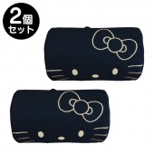 日本 SANRIO HELLO KITTY 汽車用頭枕頸枕黑色 ( 一對裝 )