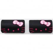 日本 SANRIO HELLO KITTY 汽車用頭枕頸枕粉紅+黑色 ( 一對裝 )