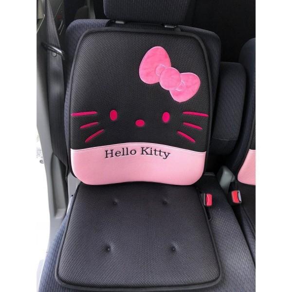 日本 SANRIO HELLO KITTY 汽車用座椅套坐椅套坐墊座墊粉紅+黑色 ( 一對裝 )