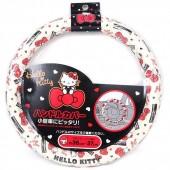 日本 SANRIO HELLO KITTY 汽車用軚盤套軑環套