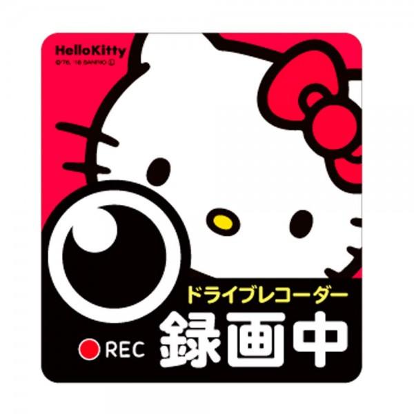 日本 SANRIO HELLO KITTY 汽車用車貼紙車身貼車CAM錄影中REC