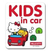 日本製 SANRIO 汽車用 HELLO KITTY 車身貼玻璃貼紙 BABY IN CAR
