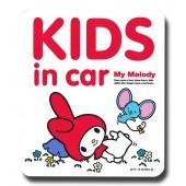 日本製 SANRIO 汽車用 MY MELODY 車身貼玻璃貼紙 BABY IN CAR