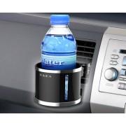 日本 SEIKO 汽車用EXEA 出風口黑色電鍍邊杯架