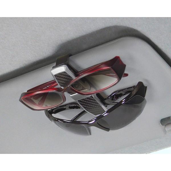 日本 SEIKO 汽車用 EXEA 太陽擋板銀邊碳纖眼鏡夾眼鏡收納