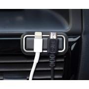日本 SEIKO汽車用手機充電線固定座理線器